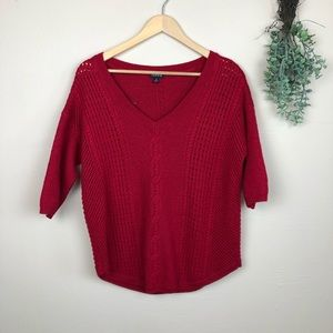 Torrid | Red Wool Blend Cable Knit Sweater